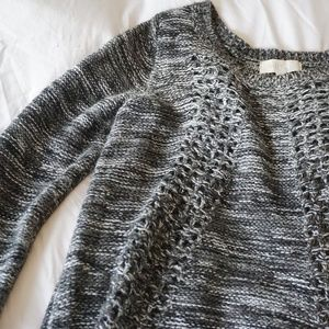 Heather Grey and White Sweater